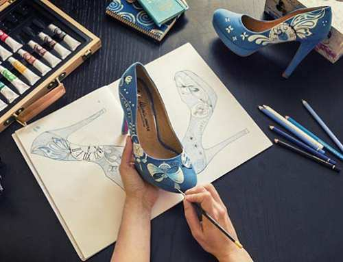 Unos zapatos de novia pintados a mano