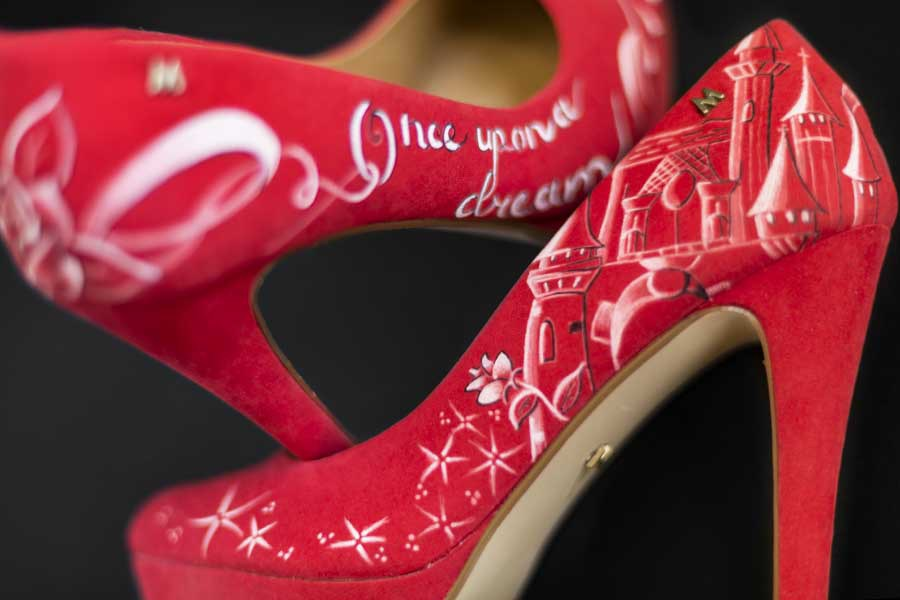 zapatos de novia pintados a mano boda