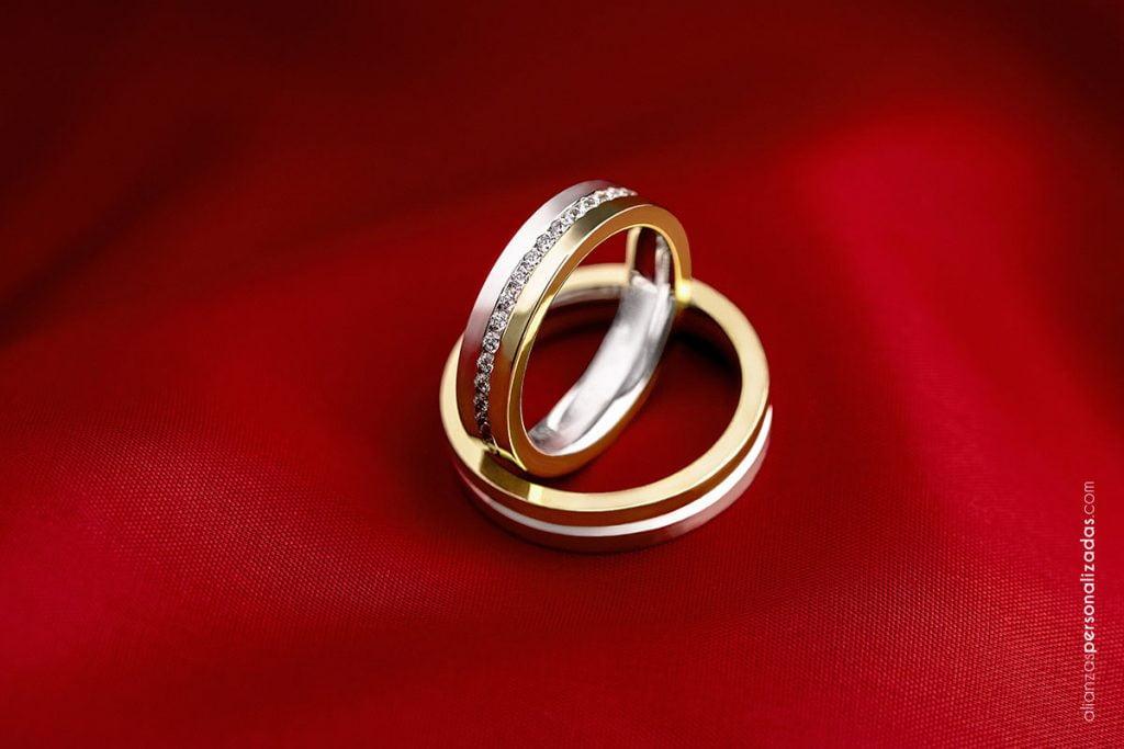 alianzas joyería boda valladolid bicolor