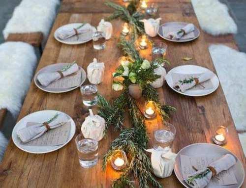 Ideas para decorar una Boda en Invierno Perfecta