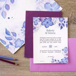 Invitaciones-de-Boda-_-Natura-_-Hortensias-_-Lápiz-Creativo